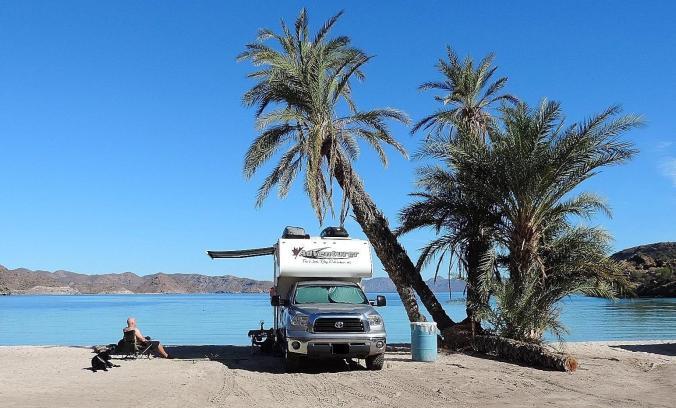 Camper on Beach